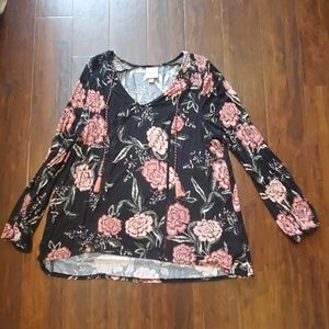 Size XL Knox Rose Long Sleeved Top